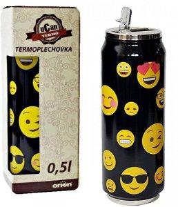 Kubek termiczny PUSZKA SMILE czarny 0,5L