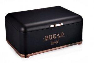 Chlebak pojemnik na pieczywo bułki retro czarny miedź