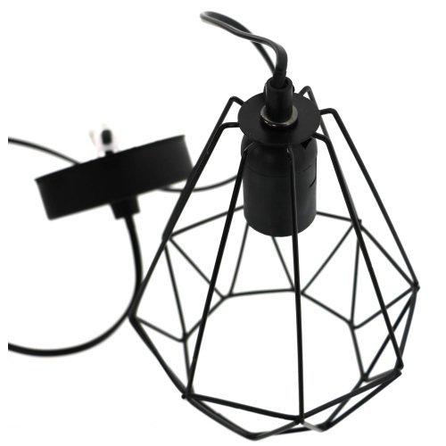LAMPA WISZĄCA SUFITOWA DRUCIANA LOFT RETRO