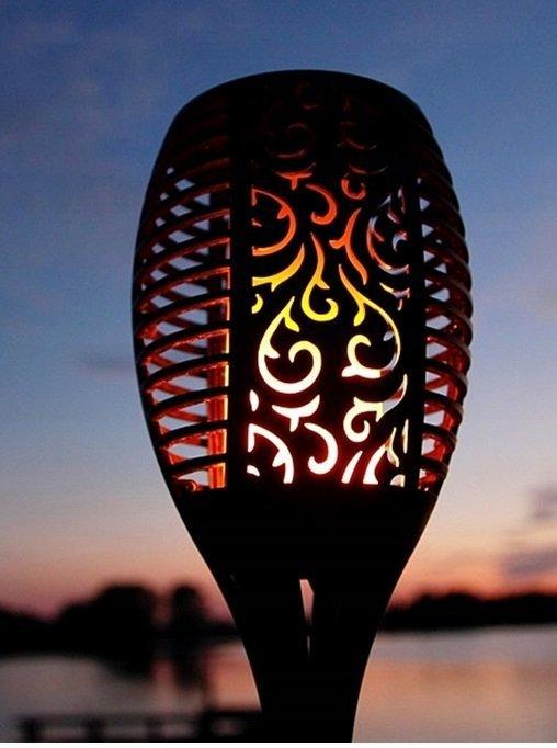 LAMPA SOLARNA LED POCHODNIA 58 CM EFEKT PŁOMIENIA