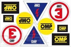 Zestaw naklejek informacyjnych OMP