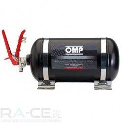OMP, System gaśniczy stalowy, mechaniczny 4,25l Black collection, Homologacja FIA