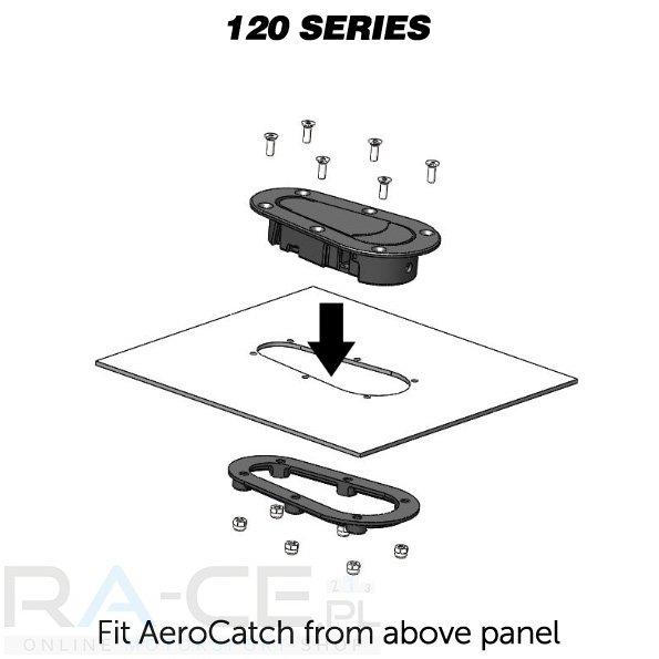 Zapinki AeroCatch z zamkiem 120-2100