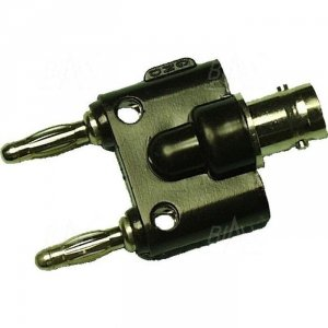 Adapter gniazdo BNC - 2x wtyk 4mm AD 2156