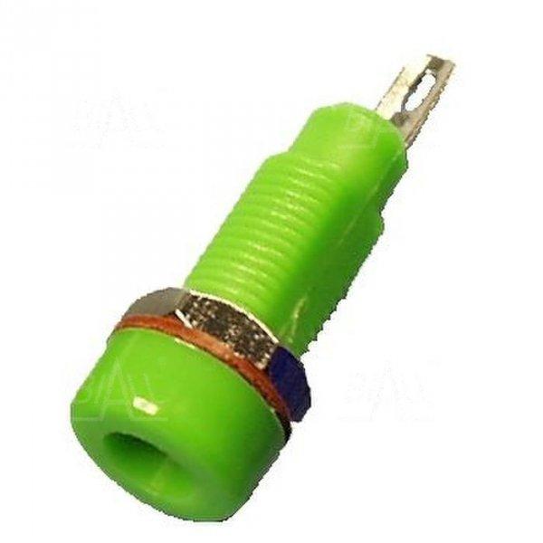 Gniazdo panelowe 4mm GL5-GN 10A, zielony