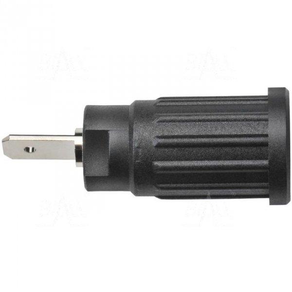 Gniazdo panel bezp. wcisk. SEPB1773-BK 24A CATII 1,5kV czarny