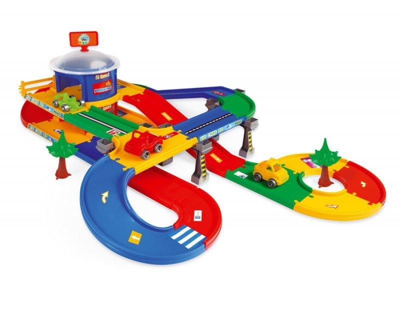 Kid Cars 3d Garaż Z Trasą 55m 2 Poziomy Wader 53130 A1 Zabawki