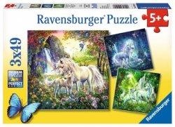 Ravensburger Puzzle 3X49 elementów Piękne Jednorożce