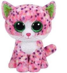 Maskotka TY Beanie Boos Sophie - Różowy kot, 24 cm