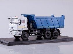 SSM KAMAZ-6522 6x6 Dump Truck (facelift) (white/blue)