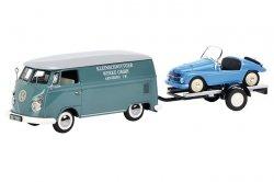 SCHUCO Volkswagen T1c Box Van Kleinschnittger with Trailer and Kleinschnittger F125