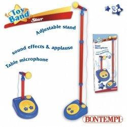 Bontempi Star Mikrofon ze statywem i dźwiękami