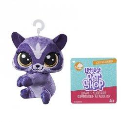 Hasbro Pluszowa przypinka Littlest Pet Shop Racoonerson