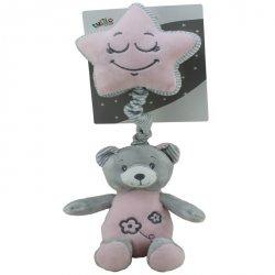 Axiom Pozytywka New Baby Miś różowy 19 cm