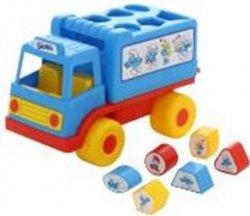 Sorter kształtów Ciężarówka z klockami Smerfy