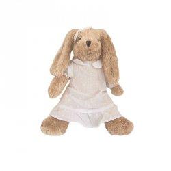 Pluszak Królik Rosalie w białej sukeince 35 cm