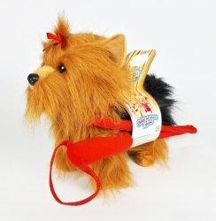 Madej Maskotka Piesek Yorkshire Terrier chodzący na smyczy 27 cm
