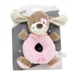 Axiom Grzechotka New Baby Piesek różowy 16 cm