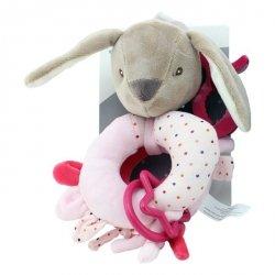 Axiom Grzechotka New Baby Króliczek z dodatkami różowy 16 cm