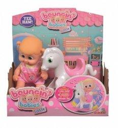 Lalka Bouncin Babies Little Bonny z konikiem bujanym