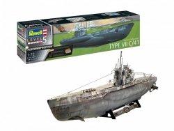 Revell Model plastikowy Niemiecka łódź podwodna typ VII C/41  1/72