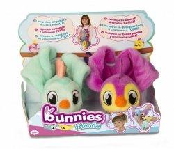 Tm Toys Pluszowy ptaszek Bunnies Friends 2pak fioletowy i zielony