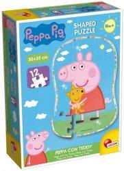 Liscianigiochi Puzzle Świnka Peppa Kształt - Peppa i Teddy