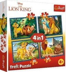 Trefl Puzzle 4w1 Król Lew - Król Lew i przyjaciele