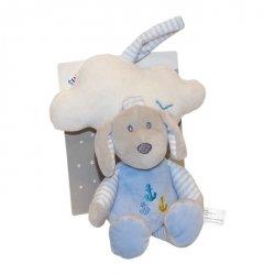 Pozytywka z chmurką New Baby Piesek niebieski 35 cm