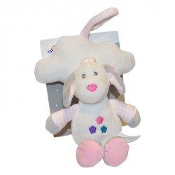 Pozytywka z chmurką New Baby Piesek biały 35 cm