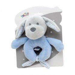 Grzechotka New Baby Piesek niebieski 16 cm