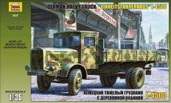 Zvezda Model plastikowy Niemiecka ciężka ciężarówka Einheitskabine z II wojny światowej L-4500