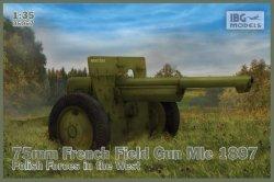 Ibg Model plastikowy 75mm francuska armata polowa Mle 1897 polskie siły na Zachodzie