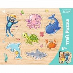 Puzzle Ramkowa układanka kształtowa- Podwodny Świat