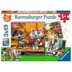 Ravensburger Puzzle 3X49 elementy 44 Koty