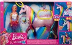 Mattel Lalka Barbie Jednorożec Magia świateł