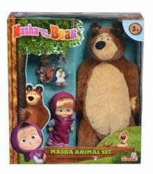 Maskotka Masza i Niedźwiedź Zestaw ze zwierzętami