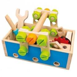 BINO Drewniana skrzynka z narzędziami