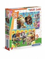 Puzzle 2x60 elementów Super Kolor 44 koty