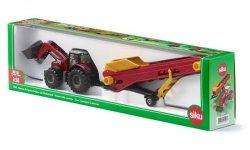 Siku Traktor Farmer Massey Fergusson z przenośnikiem