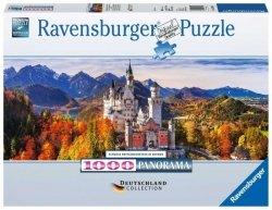 Ravensburger Puzzle 1000 elementów Panorama Zamek Neuschwanstein