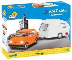 Cobi Klocki Klocki Cars Fiat 126 el + Przyczepa kempingowa