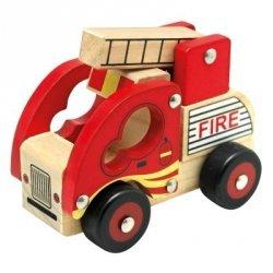 BINO Drewniany samochód straż pożarna