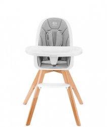 Kinderkraft Krzesełko do karmienia Tixi 2w1 szare