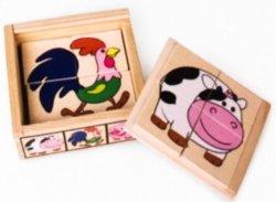 Brimarex Układanka TOP BRIGHT Puzzle w pudełku wiejskie zwierzęta