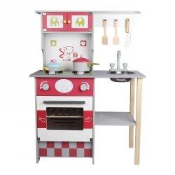Funikids Drewniana Kuchnia dla Dzieci z akcesoriami