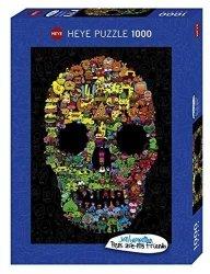Heye Puzzle 1000 elementów Czaszka pełna Doodli