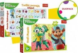 Trefl Duopack Trefliki Alfabet i puzzle 100 elementów