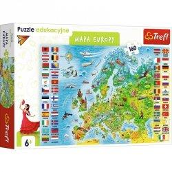 Trefl Puzzle 160 elementów Edukacyjne Mapa Europy