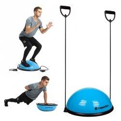 Podkładka balansująca bosu do ćwiczeń inSPORTline Dome UNI z linkami Kolor Niebieski